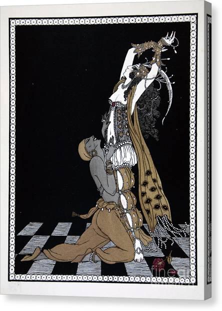 Dance Ballet Roses Canvas Print - Scheherazade by Georges Barbier