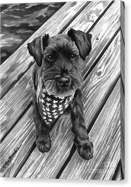 Ragnar Black Dog Canvas Print