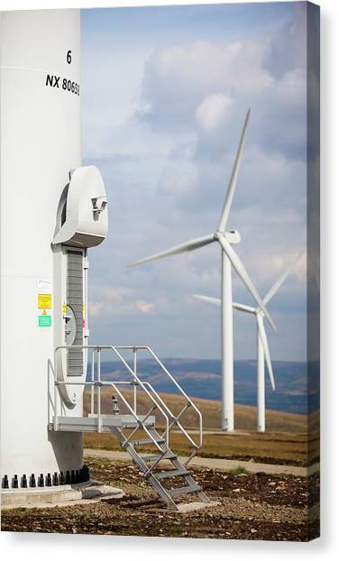Wind Farms Canvas Print - Scout Moor Wind Farm by Ashley Cooper