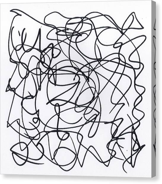 Scribble For 'eavesdropping' Canvas Print