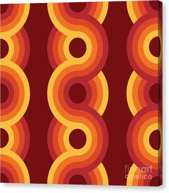 50s Canvas Print - Seamless Geometric Vintage Wallpaper by Leszek Glasner