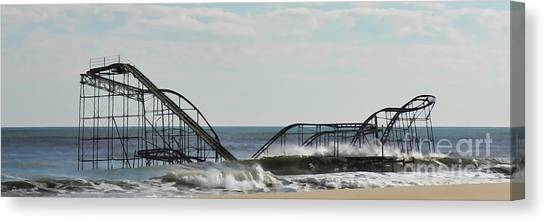 Seaside Heights Roller Coaster  - Paint Canvas Print