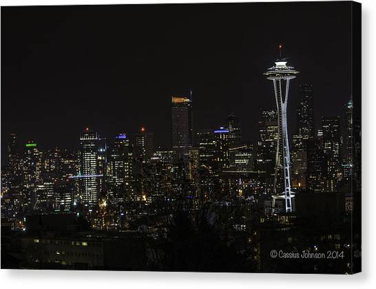 Seattle Skyline 1 Canvas Print