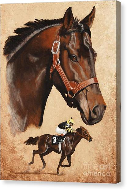 Seattle Slew Canvas Print