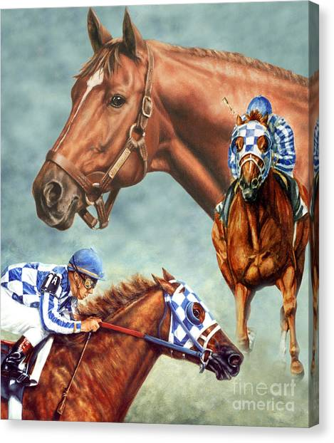 Kentucky Derby Canvas Print - Secretariat - The Legend by Thomas Allen Pauly