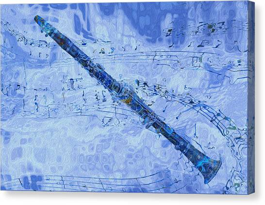Clarinets Canvas Print - See The Sound 2 by Jack Zulli