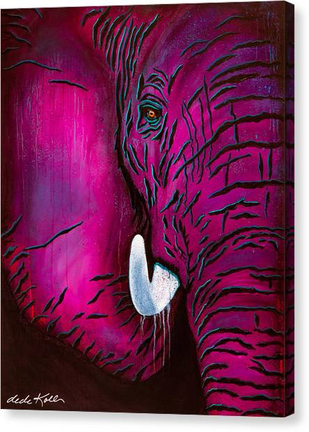 Seeing Pink Elephants Canvas Print