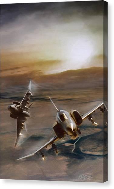 Sidewinders Canvas Print - Seek Attack Destroy by Peter Chilelli
