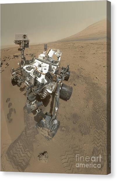 Self Discovery Canvas Print - Self-portrait Of Curiosity Rover by Stocktrek Images