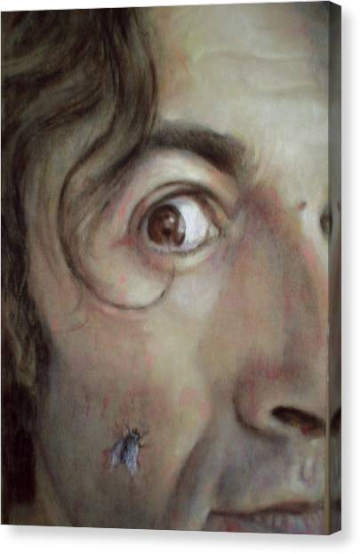 Selfportrait With Fly Canvas Print