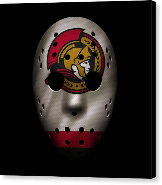 Ottawa Senators Canvas Print - Senators Jersey Mask by Joe Hamilton