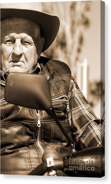 Grandpa Canvas Print - Senior Stare by Jorgo Photography - Wall Art Gallery