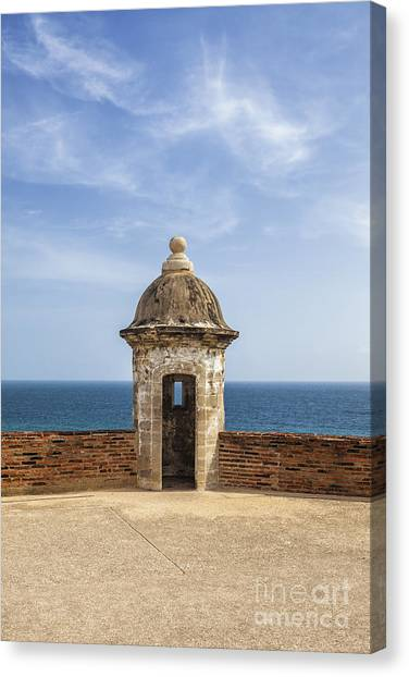 Canvas Print featuring the photograph Sentry Box In Old San Juan Puerto Rico by Bryan Mullennix