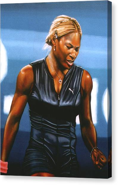 Athlete Canvas Print - Serena Williams by Paul Meijering