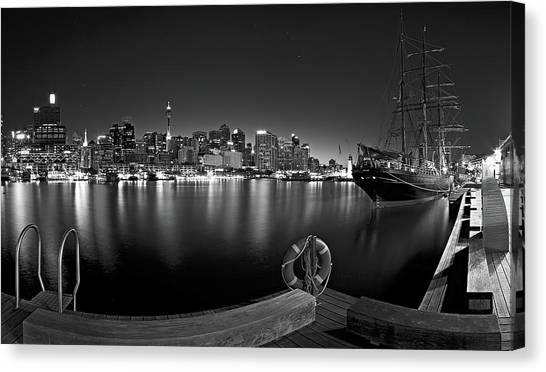 Sailboats Canvas Print - Settled In Retirement by Mark Lucey