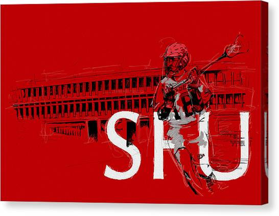 Calgary Flames Canvas Print - Sfu Art by Catf