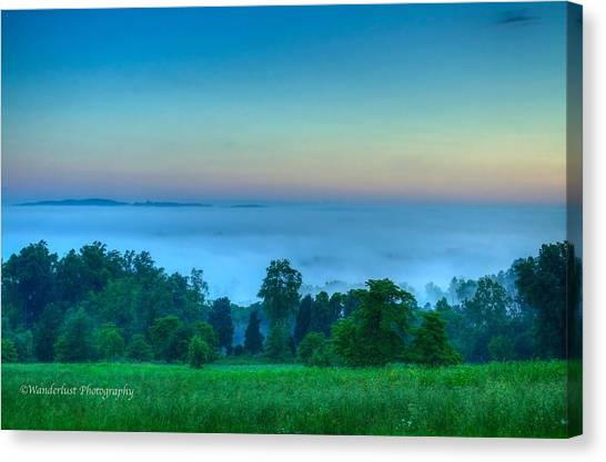 Shaconage Land Of The Blue Smoke Canvas Print by Paul Herrmann
