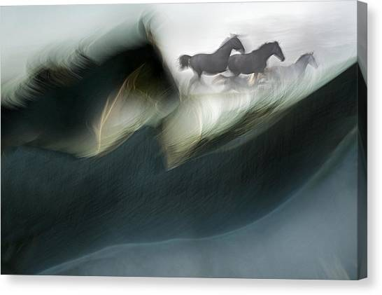 Impressionistic Canvas Print - Shadows Of Power by Milan Malovrh