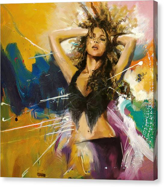 Shakira Canvas Print - Shakira by Corporate Art Task Force