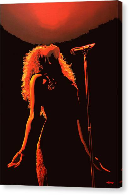 World Cup Canvas Print - Shakira by Paul Meijering