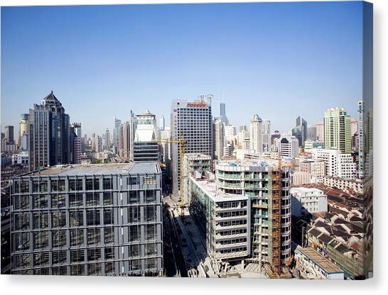 Shanghai Canvas Print by Adam Hart-davis/science Photo Library