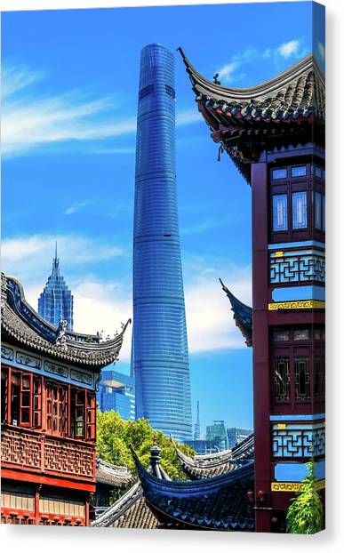 Shanghai Tower, Second Tallest Building Canvas Print by William Perry