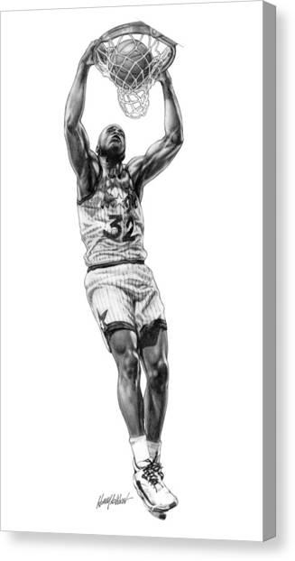 Orlando Magic Canvas Print - Shaq Slam by Harry West