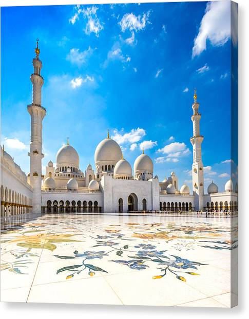 Sheikh Zayed Mosque - Abu Dhabi - Uae Canvas Print