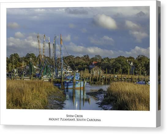 Shem Creek Canvas Print