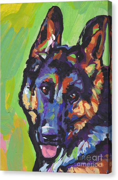 German Shepherds Canvas Print - Sheppy by Lea S