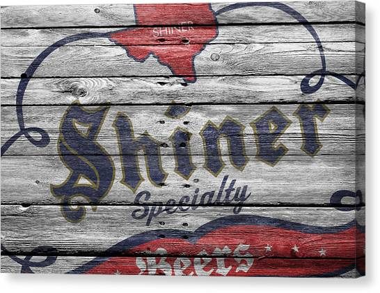Beer Can Canvas Print - Shiner Specialty by Joe Hamilton