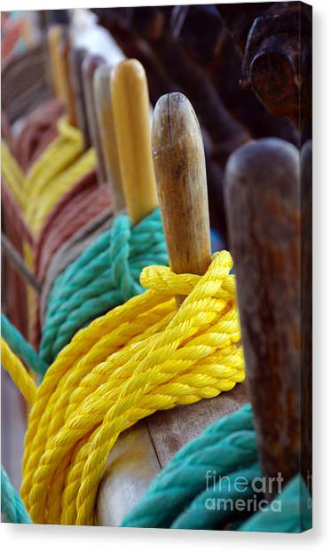 Red Knot Canvas Print - Ship Rigging by Carlos Caetano