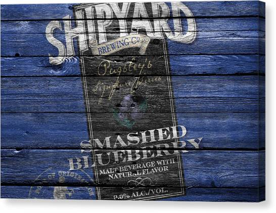 Beer Can Canvas Print - Shipyard Brewing by Joe Hamilton