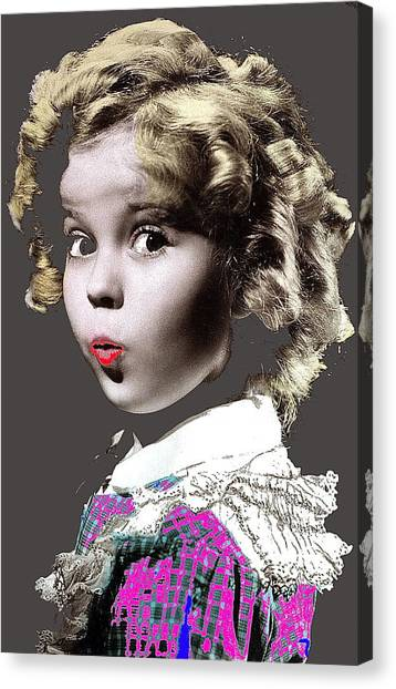 Shirley Temple Canvas Print - Shirley Temple Publicity Photo Circa 1935-2014 by David Lee Guss