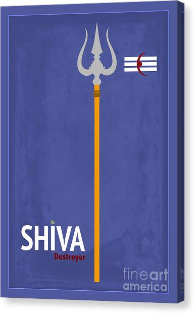 Yogi Canvas Print - Shiva The Destroyer by Tim Gainey