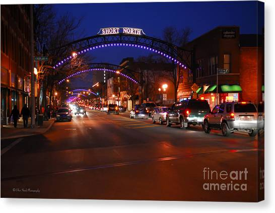 D8l353 Short North Arts District In Columbus Ohio Photo Canvas Print