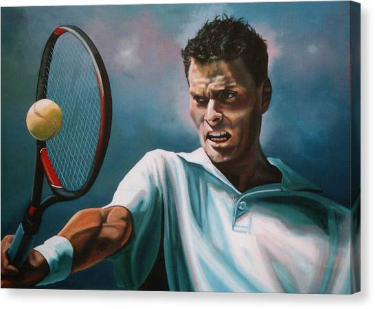 Tennis Canvas Print - Sjeng Schalken by Paul Meijering