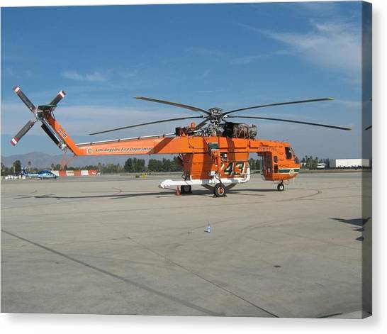 Skycrane Canvas Print - Skycrane Fire Fighting Helicopter by Jonathan Taub