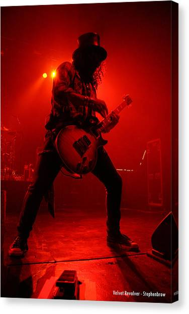 Red Rock Canvas Print - Slash  by Stephen Browne