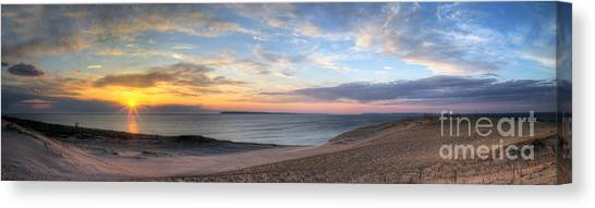 Sleeping Bear Dunes Sunset Panorama Canvas Print by Twenty Two North Photography