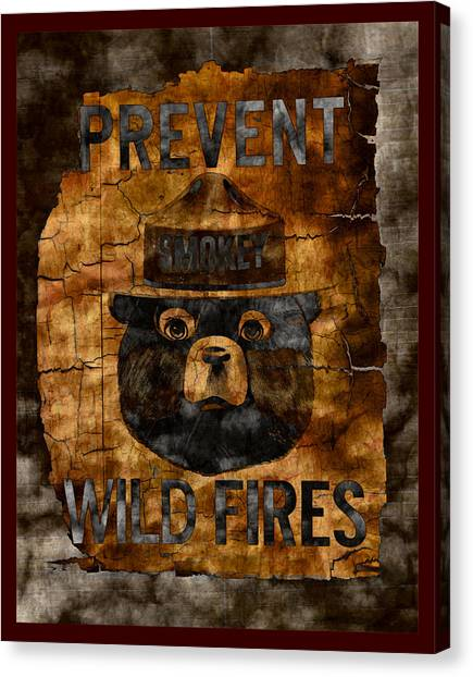 Smokey The Bear Only You Can Prevent Wild Fires Canvas Print