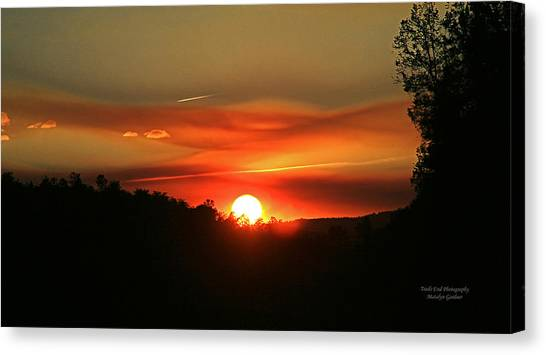 Smokin' Payson Sunset Canvas Print
