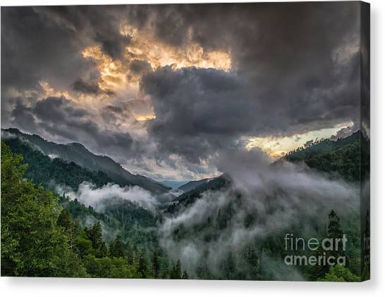 Smoky Sunset Canvas Print