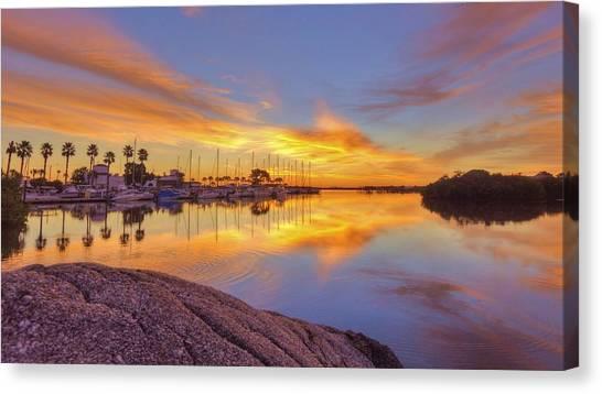 Smyrna Yacht Club Sunrise II Canvas Print by Danny Mongosa