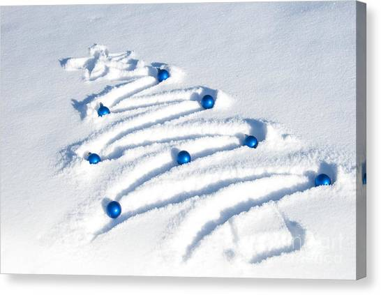 Christmas Tree Canvas Print - Snow Tree by Juli Scalzi