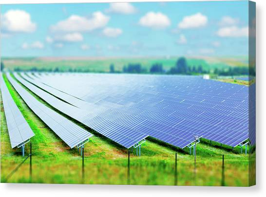 Solar Farms Canvas Print - Solar Farm by Wladimir Bulgar