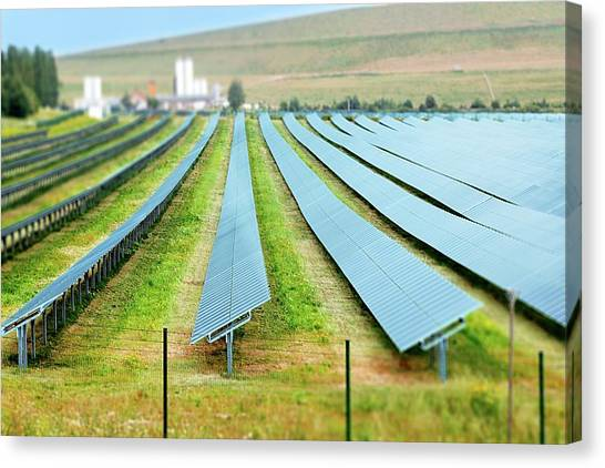 Solar Farms Canvas Print - Solar Panels by Wladimir Bulgar