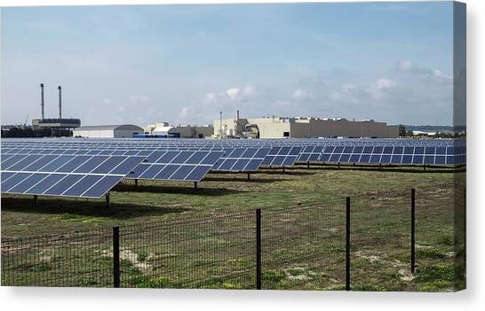 Solar Farms Canvas Print - Solar Park by Robert Brook