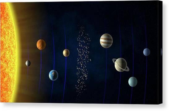 Uranus Canvas Print - Solar System by Andrzej Wojcicki