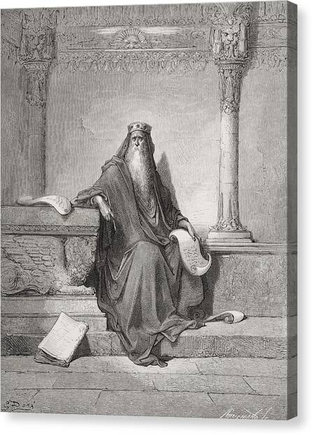 Holy Bible Canvas Print - Solomon by Gustave Dore